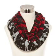 Ruched Ombré Floral Scarf