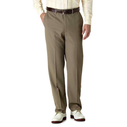 Haggar® Flat-Front Flex Gabardine Pants