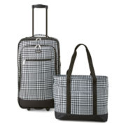 Protocol® Moreno 2-pc. Houndstooth Carry-On Luggage Set