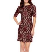 R&K Originals® Elbow-Sleeve Lace Sheath Dress