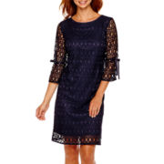 R&K Originals® 3/4-Sleeve Lace Shift Dress