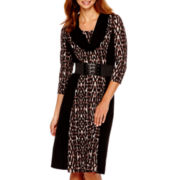 Robbie Bee® 3/4-Sleeve Sweater Dress