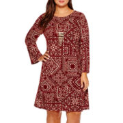 Alyx® Long-Sleeve Necklace Sweater Dress - Plus