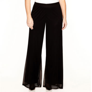 jcpenney.com | Prelude Wide-Leg Mesh Pants - Plus