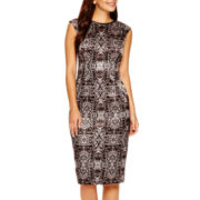 London Style Collection Sleeveless Sheath Dress