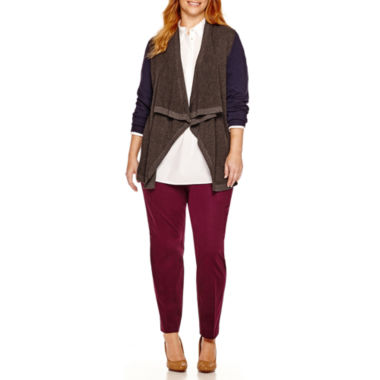 jcpenney.com | Stylus™ Thermal Cardigan, Popover Tunic or Crossover Ankle Pants - Plus