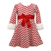 Bonnie Jean® Chevron Santa Dress - Baby Girls newborn-24m