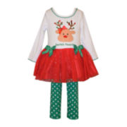 Bonnie Jean® Reindeer Top and Leggings - Baby Girls newborn-24m