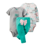 Carter's® 3-pc. Bodysuits and Pants - Baby Girls newborn-24m