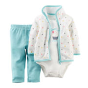 Carter's® Jacket, Bodysuit and Pants - Baby Girls newborn-24m