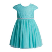 Youngland® Mesh Lace Dress - Toddler Girls 2t-4t