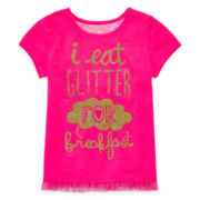 Okie Dokie® Graphic Tulle Tee - Preschool Girls 4-6x
