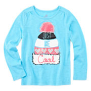 Okie Dokie® Long-Sleeve Holiday Tee - Preschool Girls 4-6x