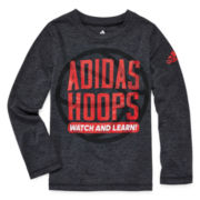 adidas® Long-Sleeve Graphic Tee - Preschool Boys 4-7
