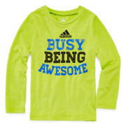 adidas® Long-Sleeve Graphic Tee - Preschool Boys 4-7