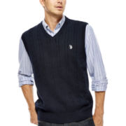 U.S. Polo Assn.® Cable-Knit Sweater Vest