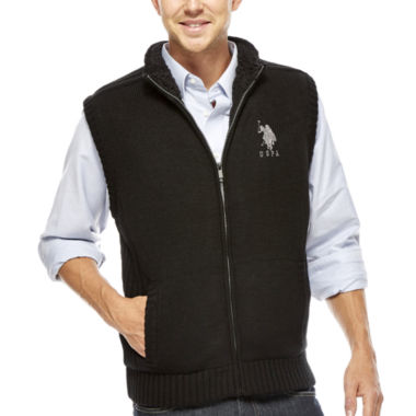 jcpenney.com | U.S. Polo Assn.® Sherpa-Lined Full-Zip Vest