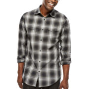 JF J. Ferrar® Long-Sleeve Ombré Plaid Shirt