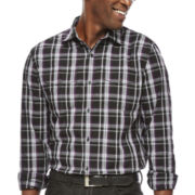 JF J. Ferrar® Long-Sleeve Shadow Plaid Shirt
