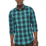 JF J. Ferrar® Long-Sleeve Ombré Plaid Shirt