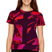 Worthington® Short-Sleeve Textured Blouse - Tall