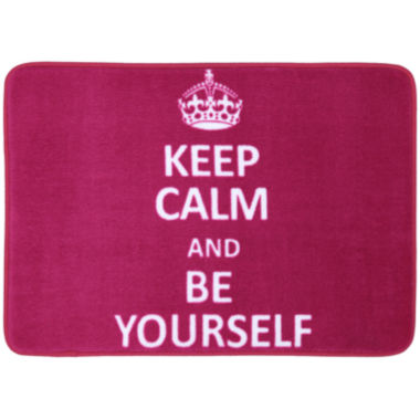jcpenney.com | Mohawk Home® Keep Calm and Be Yourself Bath Rug