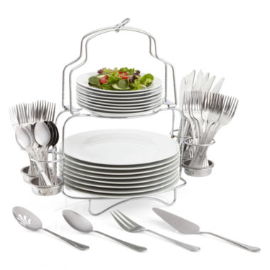jcpenney.com | Cooks 53-pc. Porcelain Dinnerware Catering Buffet Set