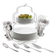 Cooks 53-pc. Porcelain Dinnerware Buffet Set