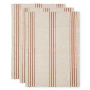 Linen Stripe Set of 3 Kitchen Towels