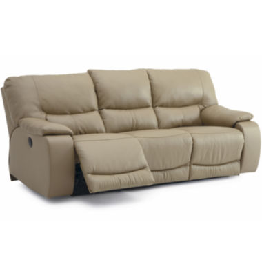 jcpenney.com | Wallace Metro Leather Match Power Motion Sofa