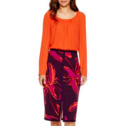 Worthington® Pleated Blouse or Pencil Skirt