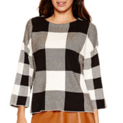 Worthington® 3/4-Sleeve Button-Back Sweater - Tall