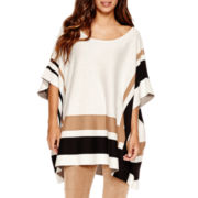 Worthington® Colorblock Poncho Sweater