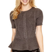 Worthington® Short-Sleeve Peplum Sweater