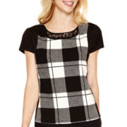 Worthington® Short-Sleeve Textured Blouse - Tall
