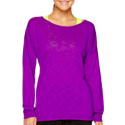 Xersion™ Long-Sleeve Cross-Back T-Shirt