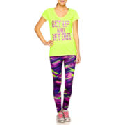 Xersion™ High-Low Graphic T-Shirt, Sports Bra or Print-Block Leggings