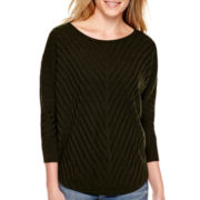 a.n.a® 3/4-Sleeve Textured Sweater