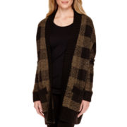 a.n.a® Long-Sleeve Plaid Cardigan Sweater