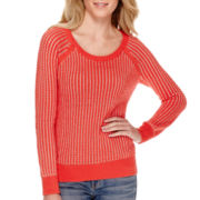 a.n.a® Long-Sleeve Two-Tone Sweater
