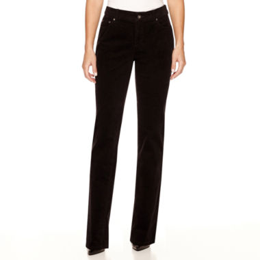 St. John's Bay® Secretly Slender Straight-Leg Corduroy Pants ...
