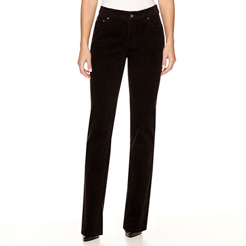 St. John's Bay® Secretly Slender Straight-Leg Corduroy Pants