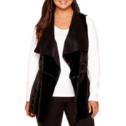 Bisou Bisou® Reversible Faux-Fur Vest - Plus