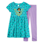 Disney Collection Jasmine Dress and Leggings - Girls 2-12