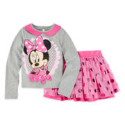 Disney Collection Minnie Mouse Top and Skirt - Girls 2-8