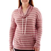 City Streets® Long-Sleeve Hooded Pullover Tunic - Juniors Plus
