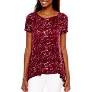 a.n.a® Short-Sleeve High-Low Swing T-Shirt - Tall