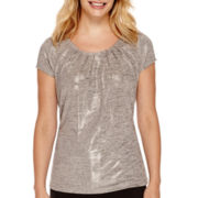 Worthington® Essential Short-Sleeve Tee - Petite