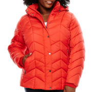 St. John's Bay® Hooded Puffer Jacket - Plus