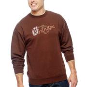 MCcc Sportswear® Granpa Embroidered Fleece Crewneck